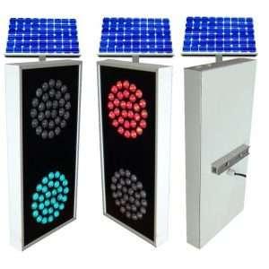 Solar Traffic Signal 2 color aluminum casing 1100
