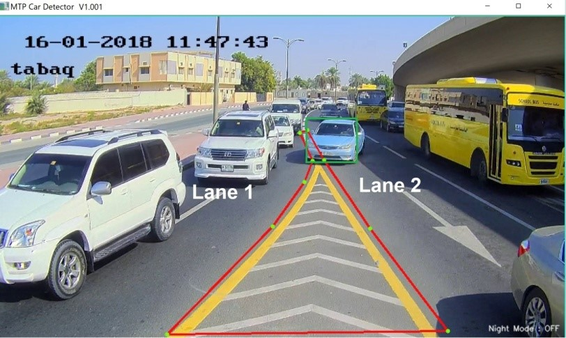 exit road violation detector by MTP
