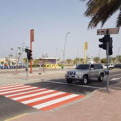 Solar Traffic Pedestrian Signal with Push Button